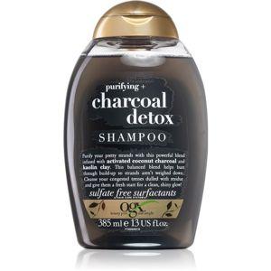OGX Charcoal Detox tisztító sampon meggyengült hajra 385 ml