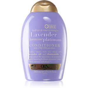 OGX Lavender Platinum tonizáló sampon a szőke hideg árnyalataiért 385 ml