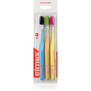 Elmex Swiss Made fogkefe ultra soft Blue + Orange + Yellow 3 db