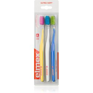 Elmex Swiss Made fogkefe ultra soft Yellow + White + Blue 3 db