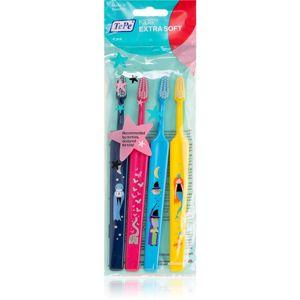 TePe Kids extra soft fogkefe gyermekeknek 4 db színes változatok 4 db