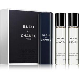 Chanel Bleu de Chanel eau de toilette (1x utántölthető + 2x utántöltő) uraknak