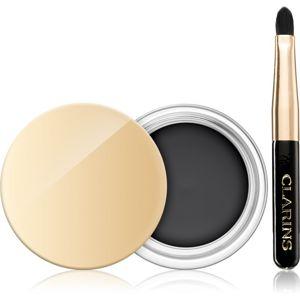 Clarins Eye Make-Up Gel Eyeliner Waterproof tartós zselés szemhéjtus ecsettel vízálló árnyalat 01 Intense Black 3,5 g