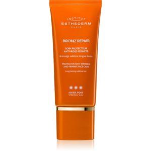 Institut Esthederm Bronz Repair Protective Anti-Wrinkle and Firming Face Care feszesítő arckrém a ráncok ellen magas UV védelemmel 50 ml