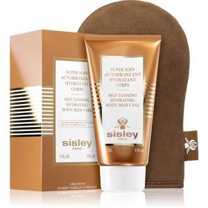 Sisley Super Soin Self Tanning Hydrating Body Skin Care önbarnító testápoló tej s aplikační rukavicí 150 ml