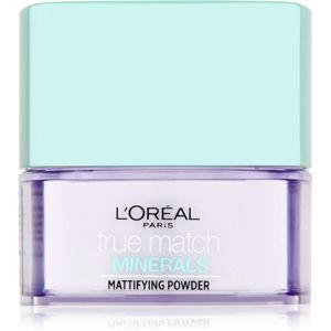 L'Oréal Paris True Match Minerals mattító hatású, áttetsző, fixáló púder 10 g