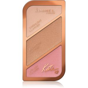 Rimmel Kate Púderes highlight és kontúr paletta árnyalat 001 Golden Sands 18,5 g