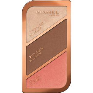 Rimmel Kate Púderes highlight és kontúr paletta árnyalat 003 Golden Bronze 18,5 g