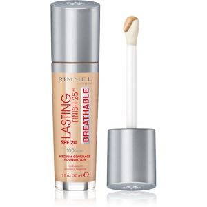 Rimmel Lasting Finish 25H Breathable folyékony make-up SPF 20 árnyalat 100 Ivory 30 ml