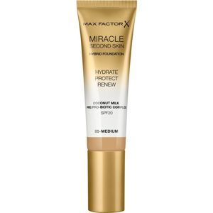 Max Factor Miracle Second Skin hidratáló krémes make-up SPF 20 árnyalat 05 Medium 30 ml
