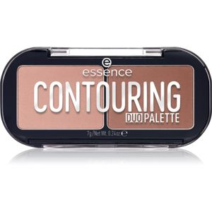 Essence Contouring Duo Palette Púderes highlight és kontúr paletta árnyalat 10 lighter skin 7 g