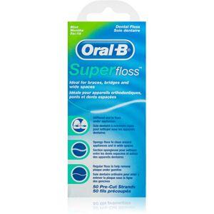 Oral B Super Floss fogselyem fogszabályzó és implantátumok tisztításához Mint 50 db