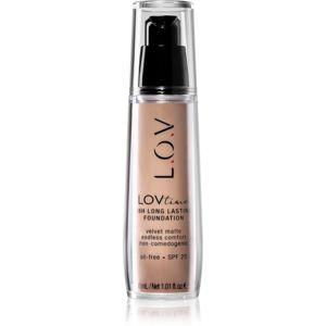 L.O.V. LOVtime hosszan tartó make-up SPF 20 árnyalat 050 Pure Nudity 30 ml