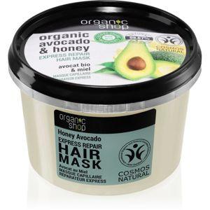 Organic Shop Organic Avocado & Honey regeneráló hajmasz 250 ml