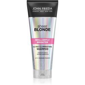 John Frieda Sheer Blonde Brilliantly Brighter sampon a festett szőke haj védelmére gyöngyházfényű