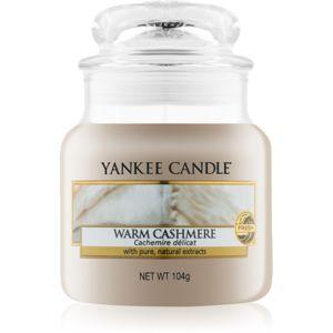Yankee Candle Warm Cashmere illatos gyertya Classic kis méret 104 g