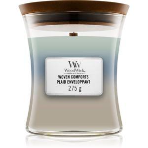 Woodwick Trilogy Woven Comforts illatos gyertya fa kanóccal 275 g