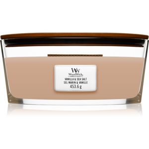 Woodwick Vanilla & Sea Salt illatos gyertya fa kanóccal (hearthwick) 453,6 g