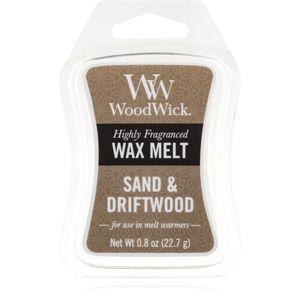 Woodwick Sand & Driftwood illatos viasz aromalámpába 22,7 g