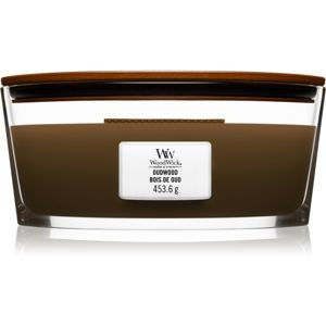 Woodwick Oudwood illatos gyertya fa kanóccal (hearthwick) 453,6 g