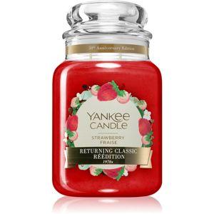 Yankee Candle Strawberry Fraise illatos gyertya Classic nagy méret 623 g