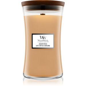 Woodwick Golden Milk illatos gyertya fa kanóccal 609,5 g