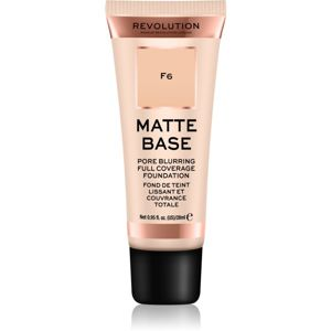 Makeup Revolution Matte Base fedő make-up árnyalat F6 28 ml