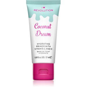 I Heart Revolution Delicious Primer Coconut Dream hidratáló make-up alap bázis 27 ml