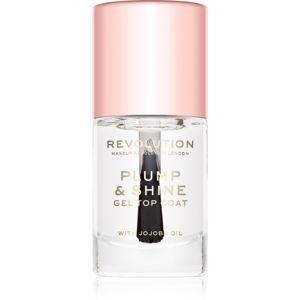 Makeup Revolution Plump & Shine körömlakk géles hatással átlátszó 10 ml