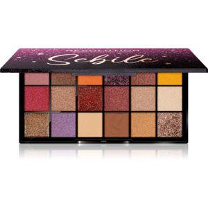 Makeup Revolution X Sebile púderes szemhéjfesték paletta árnyalat Night 2 Night 18x1 g