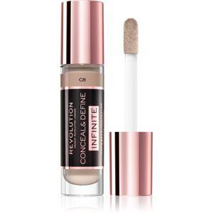 Makeup Revolution Infinite fedő korrektor a bőr tökéletlenségei ellen nagy csomagolás árnyalat C8 9 ml
