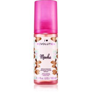 I Heart Revolution Fixing Spray élénkítő fixáló spray illattal Mocha 100 ml