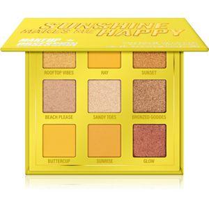 Makeup Obsession Mini Palette szemhéjfesték paletta árnyalat Sunshine Makes Me Happy 11,7 g
