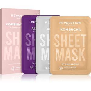 Revolution Skincare Biodegradable Combination Skin fátyolmaszk szett (a hámlásra hajlamos irritált és zsíros bőrre)