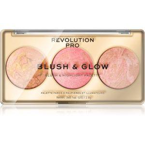 Revolution PRO Blush & Glow paletta az egész arcra árnyalat Peach Glow 8,4 g