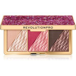Revolution PRO Crystal Luxe paletta az egész arcra árnyalat Berry Flush 8,4 g