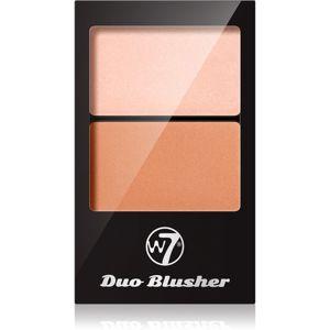 W7 Cosmetics Duo Blusher arcpirosító ecsettel árnyalat 03 7 g