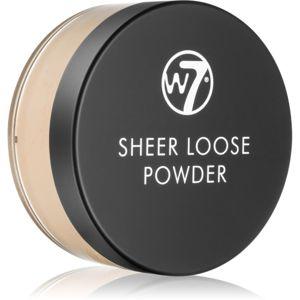 W7 Cosmetics Sheer Loose mattító lágy púder árnyalat Natural Beige 16 g