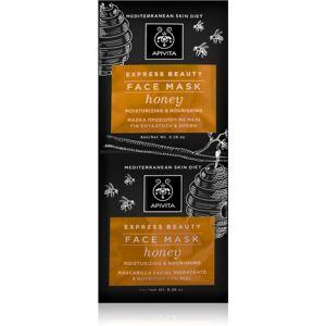 Apivita Express Beauty Honey Intenzív hidratáló arcpakolás