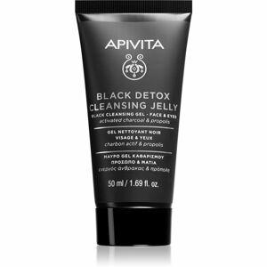 Apivita Cleansing Propolis & Activated Carbon tisztító gél faszénnel az arcra és a szemekre 50 ml