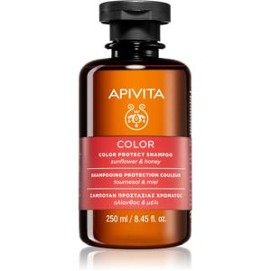 Apivita Holistic Hair Care Sunflower & Honey sampon a festett haj védelmére 250 ml