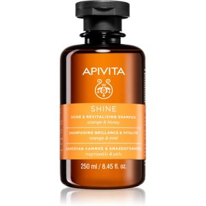 Apivita Holistic Hair Care Orange & Honey revitalizáló sampon az erős és fénylő hajért 250 ml