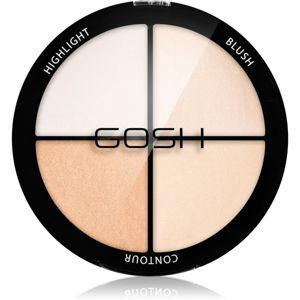 Gosh Strobe'n Glow kontúrozó és élénkítő paletta árnyalat 001 Highlight 15 g