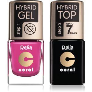 Delia Cosmetics Coral Nail Enamel Hybrid Gel kozmetika szett körmökre