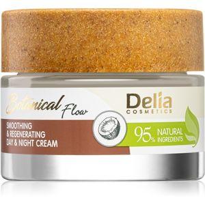 Delia Cosmetics Botanical Flow Coconut Oil kisimító nappali és éjszakai krém a bőr regenerációjára