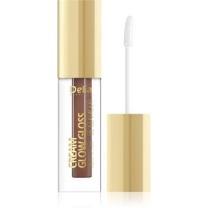 Delia Cosmetics Cream Glow Gloss Be Glamour folyékony rúzs árnyalat 208 Brownie 5 ml