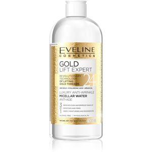 Eveline Cosmetics Gold Lift Expert tisztító micellás víz érett bőrre
