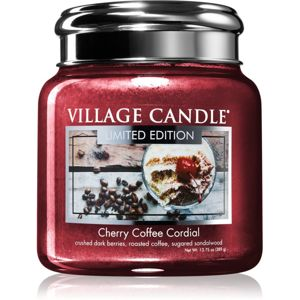 Village Candle Cherry Coffee Cordial illatos gyertya 390 g