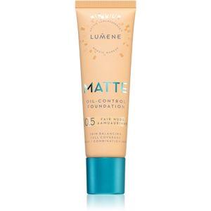 Lumene Matte Oil-Control Foundation fluid make-up kombinált és zsíros bőrre árnyalat 0,5 Fair Nude