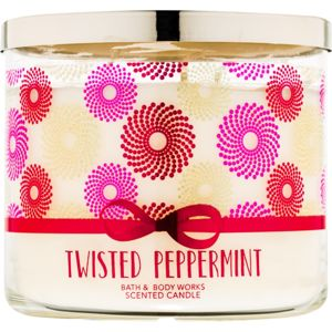 Bath & Body Works Twisted Peppermint illatos gyertya 411 g